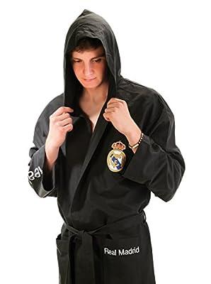 Real Madrid C.F. Bathrobe for Men & Boy Microfiber Tecnic Tissue Colour Black - Madrid's official bathrobe
