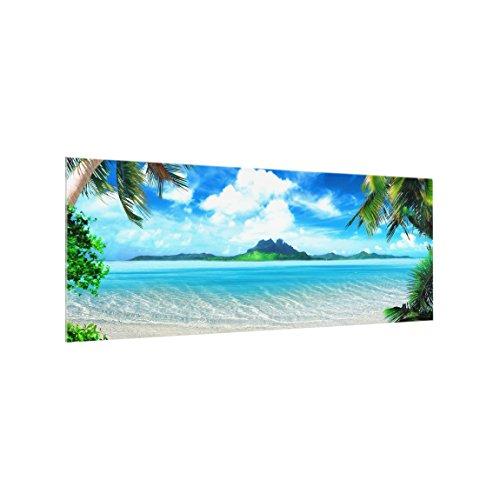 Bilderwelten Panel antisalpicaduras de Cristal - Dream Vacation - Panorámico, Panel antisalpicaduras...