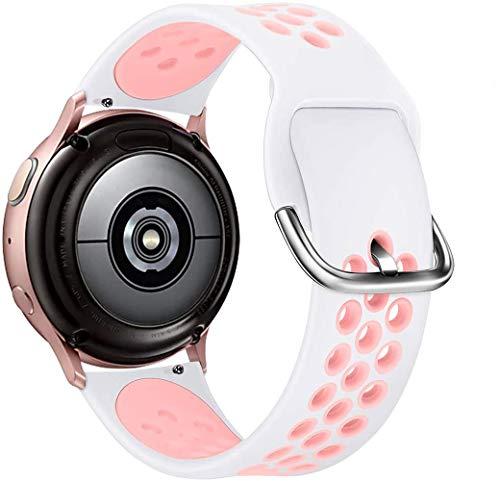 KIMILAR Pulseras Compatible con Samsung Galaxy Watch 42mm/Watch Active/Active 2 (40mm/44mm), Silicona Correa Compatible con Garmin Vivoactive 3/Forerunner 645/245, Vivomove/Vivomove HR Sport -S