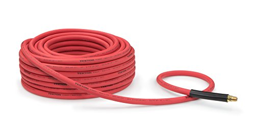 TEKTON 46338 3/8-Inch I.D. by 100-Foot 250 PSI Rubber Air Hose with 1/4-Inch MPT Ends and Bend Restrictors
