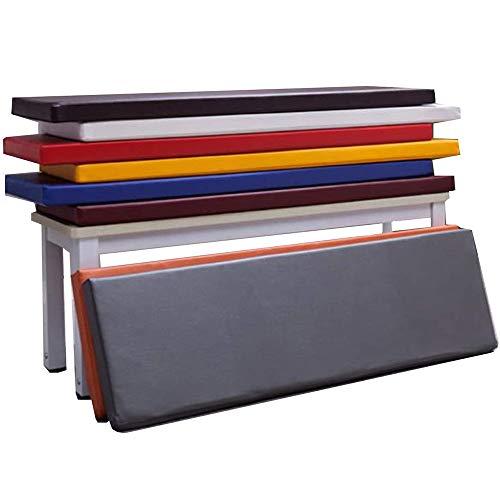 ZINN Leder-Outdoor-Bankkissen, wasserdicht, für 2- und 3-Sitzer, Holzbank, Schaumstoff-Polsterung, Sitzkissen für Gartenbank, Sofa oder Schaukel