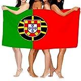asdew987 Toalla de playa de 78,7 x 129,5 cm, suave, ligera, absorbente para baño, piscina, yoga, pilates, manta de pícnic, toallas bandera Portugal pequeñas pinturas