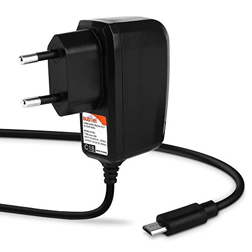subtel® Qualitäts Ladekabel - 1.2m (2A / 2000mA) kompatibel mit Lenovo Yoga Tablet/Yoga Tab 3/ ThinkPad Tablet/IdeaPad Miix/ Tab2/Tab3/Tab4/Tab10 (5V / Micro USB) Ladegerät Netzteil Charger schwarz