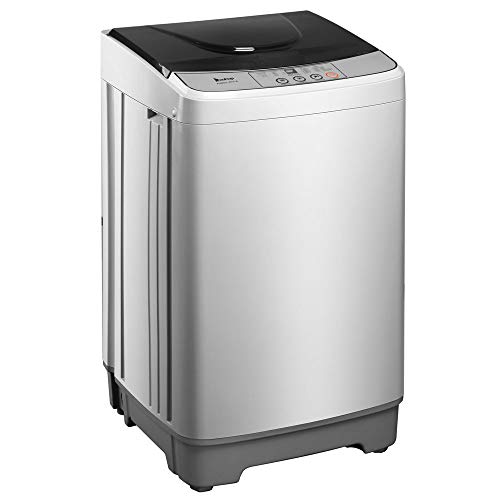 Full-Automatic Washing Machine 13.3LBS Capacity/3.2 Cu.Ft Electric Portable Compact Laundry Washer Spin with Drain Pump,10 Programs 8 Water Level Selections with LED Display, Easy Control Knob -  K KYMYCRAFT