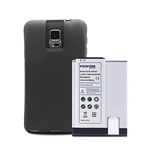 Perfine 9600mAh Samsung Galaxy Note 4 Akku, Li-Ionen-Ersatzakku mit Full Edge TPU-Gehäuse und NFC-Funktion