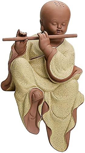 Para oficina jardín sala de la familia ornamentos abstractos figurines arte regalo escritorio para el hogar mesa de baño decoración escultura, pequeño monje decoración zen tv gabinete decoración Buda