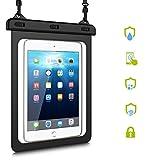 HopMore Impermeabile Waterproof Trasparente PVC Cover per iPad Mini Retina,iPad Air/Air 2, iPad PRO 9.7, Galaxy Tab S2 8.0/9.7,Huawei MediaPad T3 / M3 Lite 10, Tab E/Tab A 9.7, [Fino a 10']