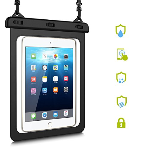 """HopMore Waterproof Case for iPad Samsung Huawei,Tablet Case Water Resistant Protective Case for New iPad Pro 9.7, iPad Air/Air 2, Huawei MediaPad T3 / M3 Lite 10"""",Galaxy Tab A 9.7 (8.1 inch - 10inch)"""