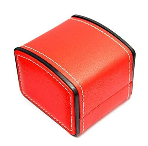 FACAIA Uhrenbox PU Leder Quadrat Geschenk Armband Armreif Schmucketui Organizer, Langlebige Display Aufbewahrung