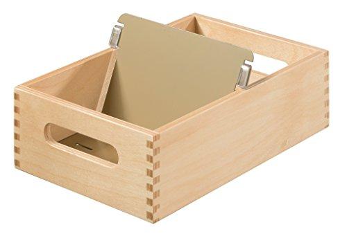 HAN Karteitrog 506-0, DIN A6 quer aus Holz / Hochwertige Lernkarteibox aus edlem & robustem Naturholz für 900 DIN A6 Karteikarten / Ideal zum Vokabeln lernen & als Lehrmaterial
