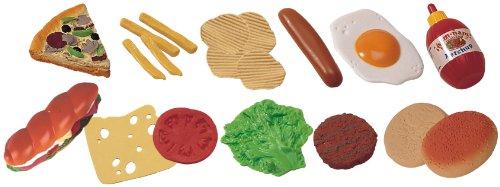 Miniland Set de 19 alimentos de comida rápida para jugar colores reales (30585) , color/modelo surtido