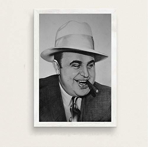 PCCASEWIND Cuadro En Lienzo 50X70Cm,Al Capone Gente Famosa