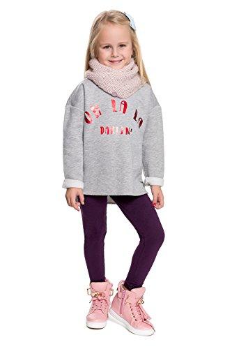 hi!mom - Kinder Winterleggings - aus Baumwolle - lang - Thermomaterial - für jedes Alter - CHILD28 - Pflaume - 3-4 Jahre