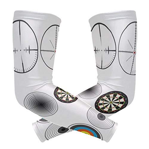LUPINZ - Mangas de compresión para varios objetivos de tiro con arco para brazos, protección UV, bloqueador solar para deportes al aire libre, 1 par
