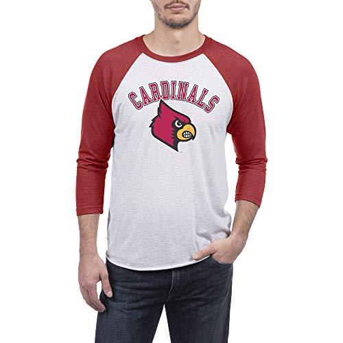 Top of the World Louisville Cardinals Men's Premium Triblend 3/4 Raglan Sleeve Tee, Large