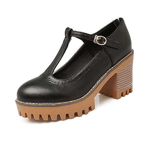 Z710-1S - Zapatos de tacón con correa y correa para el pie (plataforma de 7,5 cm, 2,5 cm), diseño informal, color Blanco, talla 38 EU