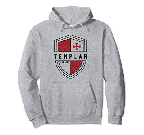 Knights Templar Cross and Shield Vintage Medieval Crusader Pullover Hoodie