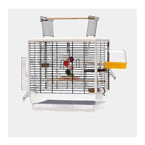 Gabbia Voliera per Uccelli Piccoli uccelli Sized gabbia Pet Travel Home Apri Top Bird Cage for Budgie piccioncini 61 centimetri alto, gabbia di uccello ornamentale con i giocattoli Uccelli Gabbie