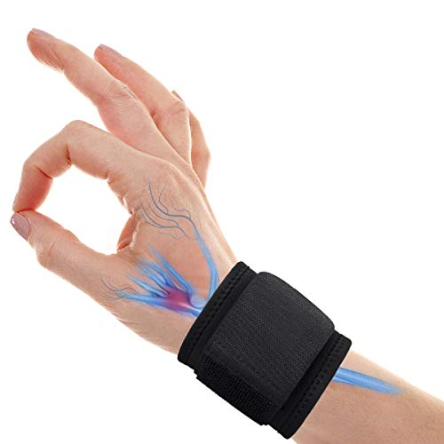 Wrist Brace Carpal Tunnel, Adjustable Wrist Support for Arthritis and Tendinitis Pain Relief - Ergonomic Hand Wrist Wraps Compression Strap for Working Out Sport Weightlifting