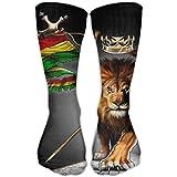 remmber me Unisex Impreso Rasta Lion Knee High Medias largas Adultos Calcetines personalizados Calcetines deportivos para hombres Mujeres