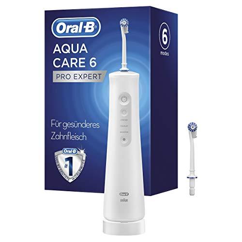 Oral-B AquaCare 6 Pro-Expert Kabellose Munddusche mit Oxyjet-Technologie, für gesünderes Zahnfleisch