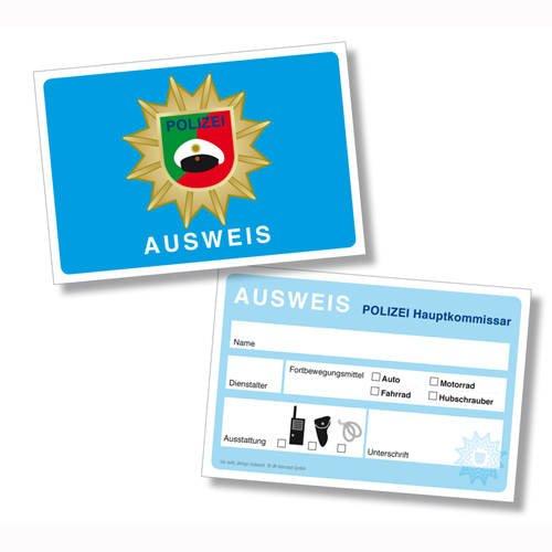PARTY DISCOUNT Dienstausweis Polizei, 6 Stück