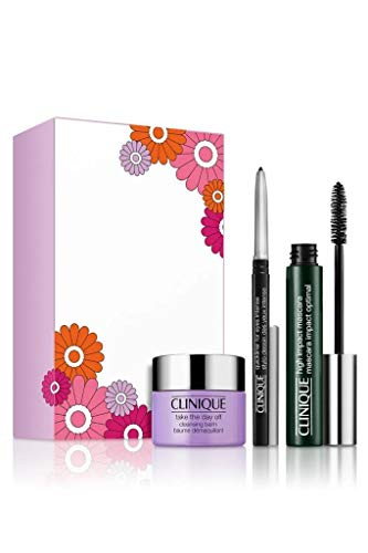 Clinique High Impact Favourites Augen Make-up Set (Mascara,7ml+Reinigungsbalsam,15ml+Eyeliner,0.14g)