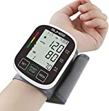 Wrist Blood Pressure Monitor,Accurate Automatic Digital BP Machine,with Irregular Heartbeat Detector, 2x99 Readings Memory Function and Large LCD Display,Include Carrying Case and 2AAA Batteries-Black