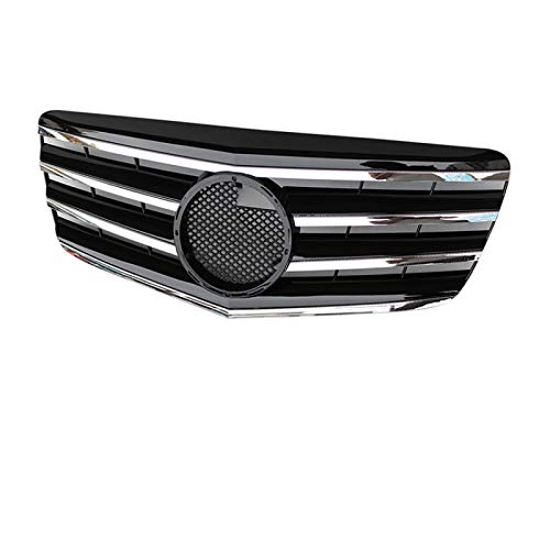 JNSMQC Front Auto Stoßstange Grill.Für Mercedes.FürBenz E-Klasse W211 2007 2008 2009 Schwarz 5 Pin