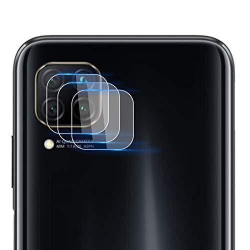 NOKOER Kamera Panzerglas Kompatibel für Huawei P40 Lite, [3 Stück] Ultradünnes Gehärtetes 2.5D Kamera Schutzglas, 360 Grad Schutzkamera- Transparent