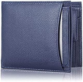 Blissburry Touch Men's Leather Wallet Colour Blue