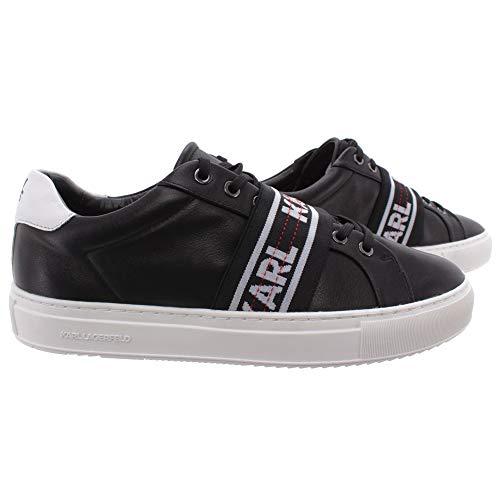 Karl Lagerfeld Herren Sneakers KL51035 000 Kupsole Black Leder Schwarz