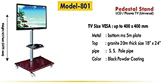Royal Look LED/LCD TV Full Motion Floor Mount/Pedestal Stand/TV Cart (100% Made of Metal)