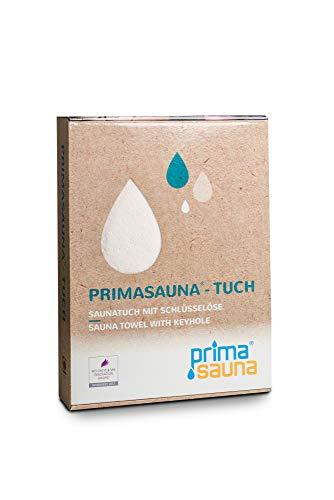 Saunatuch DELUXE XXL primasauna® 210x80 cm 550g/m² - Badetuch - Strandtuch (Creme)