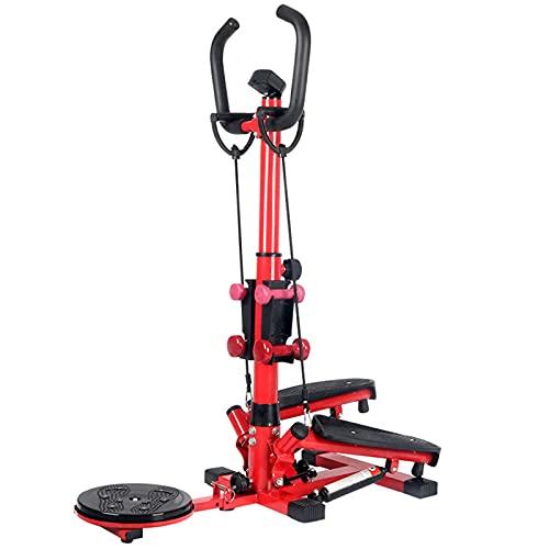 BAHAOMI Stepper Gimnasio En Casa Step Machine Fitness,Silencioso Reposabrazos Escalera Stepper,con Mancuernas Y Cordón,Entrenamiento Cardio Interiores Ejercicio Físico Deportes Cuerpo