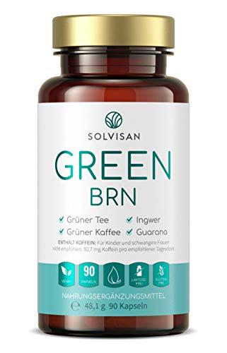 SOLVISAN GREEN BRN mit Grüner Kaffee, Grüner Tee, Mate, Ingwer, Guarana - 90 Kapseln
