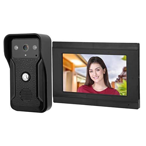 Videoportero de 7 pulgadas Sistema de timbre de videoportero Soporte de intercomunicador de aplicación remota(European regulations)
