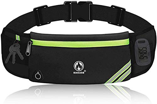 Running Belt for Women Men, Water Resistant Runners Belt Fanny Pack - Waist Bag Belt Pack Pouch for Workout, Jogging, Fitness - Adjustable Running Phone Holder for All Kinds of iPhone Samsung Android