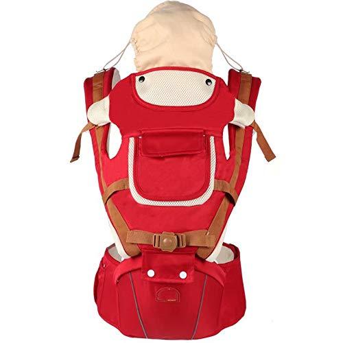 Doyeemei con un sombrero para el sol Combinación de taburete y correa desmontables Mochila infantil ergonómica para recién nacidos y niños pequeños de 0 a 3 años 3-en-1-Mochila portabebés Red