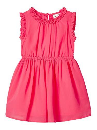 NAME IT Damen Kleid Rüschenverziertes 110Calypso Coral