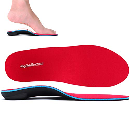 Orthotic Inserts High Arch Support Insoles Plantar Fasciitis Metatarsalgia Orthopedic Insole for Women Men Flat Feet Boot Insole for Heel Spurs Foot Pain Shin Splints Bunions Pronation Heel Pain