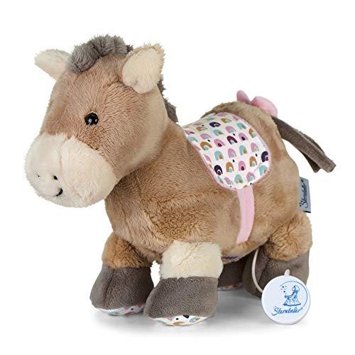 Sterntaler 6012003 Spieluhr, Stofftier Pony Pauline, Austauschbares Spielwerk, Größe: M