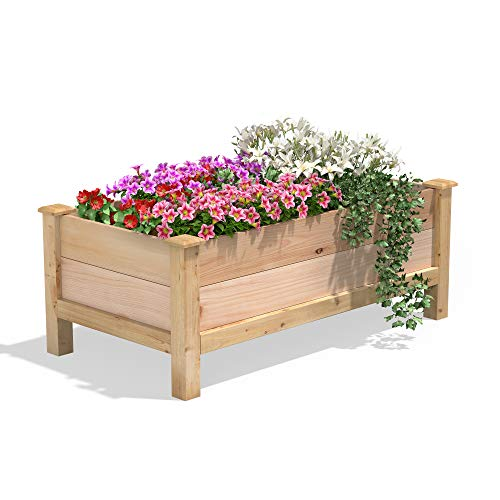Greenes Fence Premium Cedar Elevated Garden Bed 24' W x 48' L x 19' H
