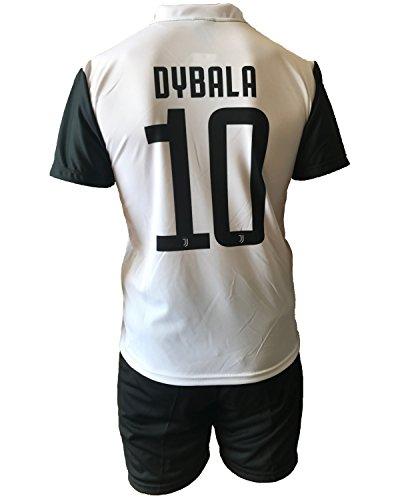 Completo Juventus Paulo Dybala 10 Pantaloncini Nuovo Logo Replica Autorizzata Bambino Adulto 2017-2018, 12 Anni