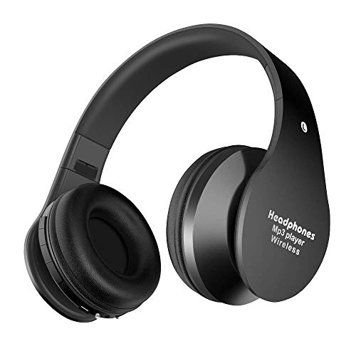 Cuffie Bluetooth Senza Fil, Alitoo Wireless Bluetooth Headphone Over-Ear 4.2, Autonomia 12 Ore, Cuffie Bluetooth Pieghevole Ergonomico Con Microfono (Nero)