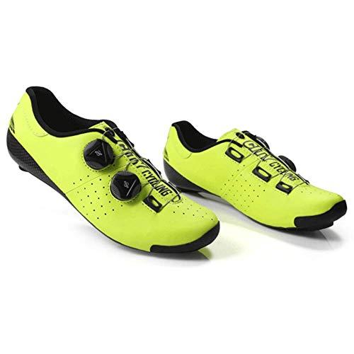 HAOLIN - Zapatillas de ciclismo termomoldeables con bloqueo automático de 3 K...