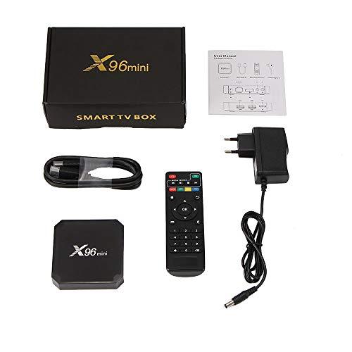 JIAOAOO - Box TV per X96 Mini TV Box Android 7.1.2 Amlogic S905w Quad Core WiFi Hd 2G + 16G 4K Player
