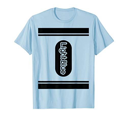 Light Blue Crayon Shirt halloween costume tee couple group T-Shirt