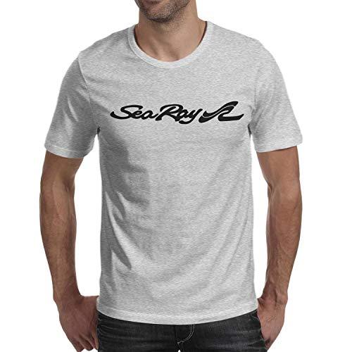 novelkseer Fashion Man Cotton Pattern O-Neck Sea-Ray-Logo-Blacks- Grey Short Sleeve Tee Shirts