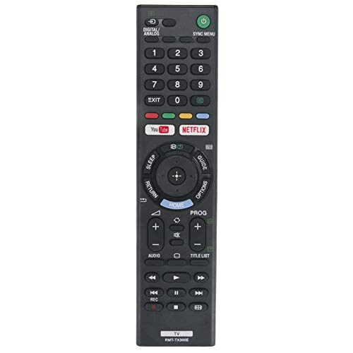 VINABTY RMT-TX300E Fernbedienung für SONY TV KDL-40WE663 KDL-43WE755 KDL-49WE660 KDL-49WE663 KDL-49WE665 KDL-49WE750 KDL-49WE755 KDL-50W660F KDL-43W660F KDL-49W750E KDL-49W660E KDL-43W750E KDL-40W660E